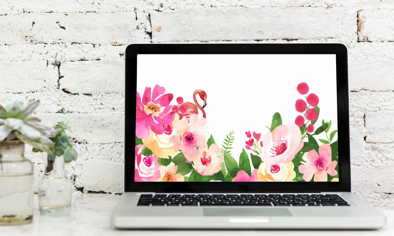 Tapeta nakomputer itelefon Flower Power podgląd 2018