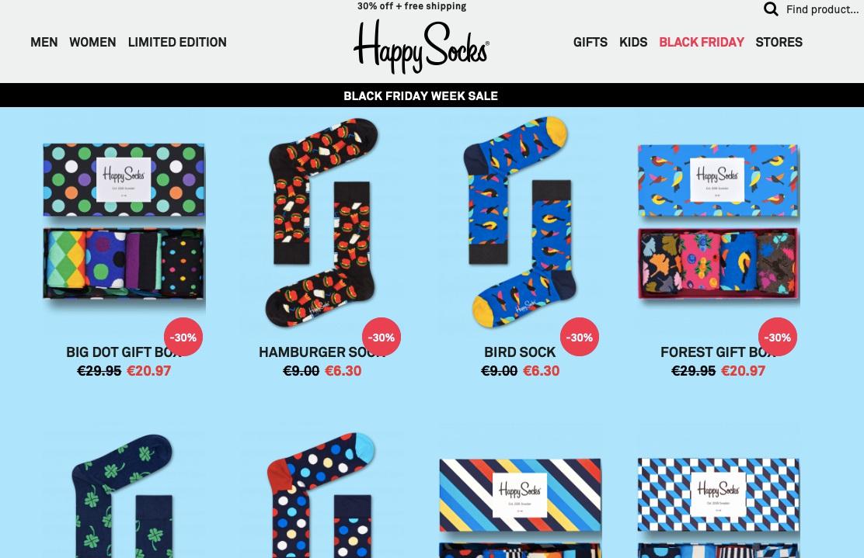 Happy Socks Black Friday 2018