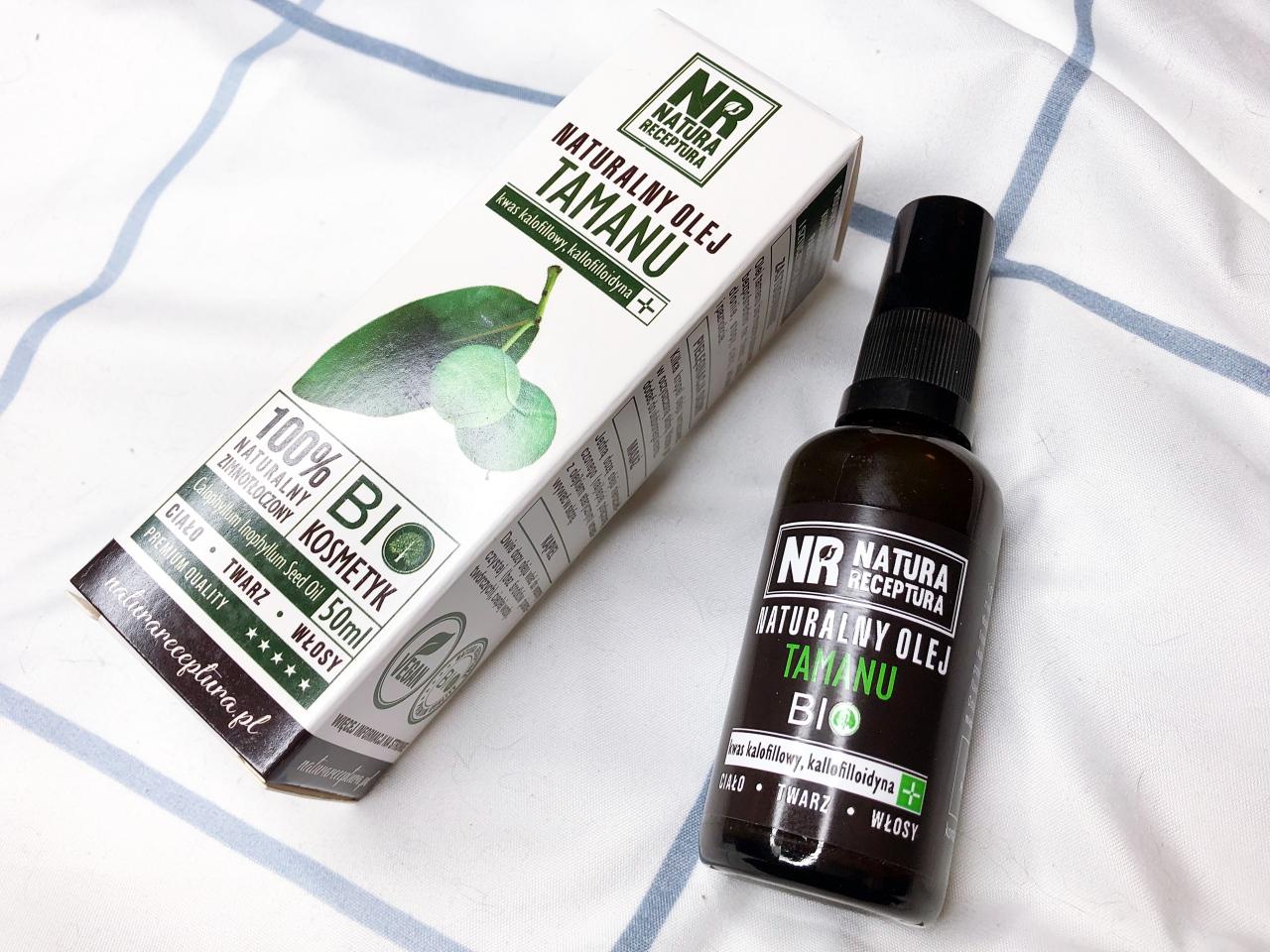 Naturalny zimnotłoczony olej tamanu Natura Receptura