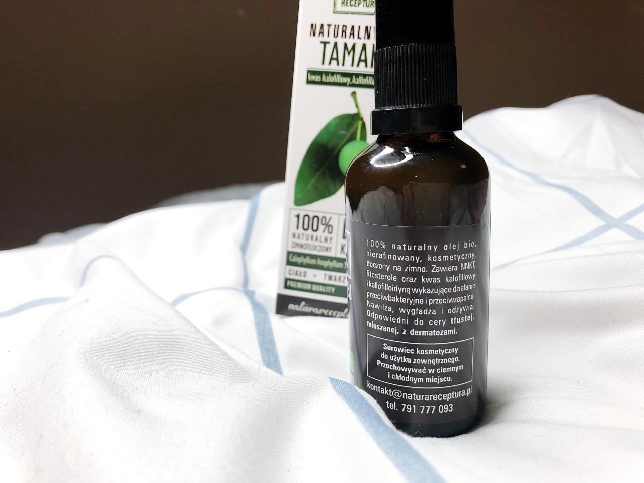 Olej tamanu składniki iwłaściwości