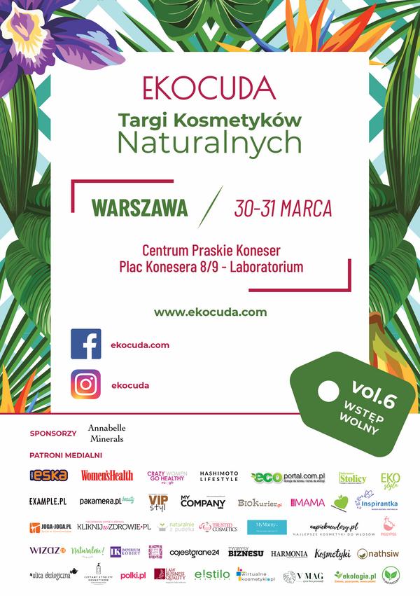Ulotka Targi kosmetyków Ekocuda Warszawa
