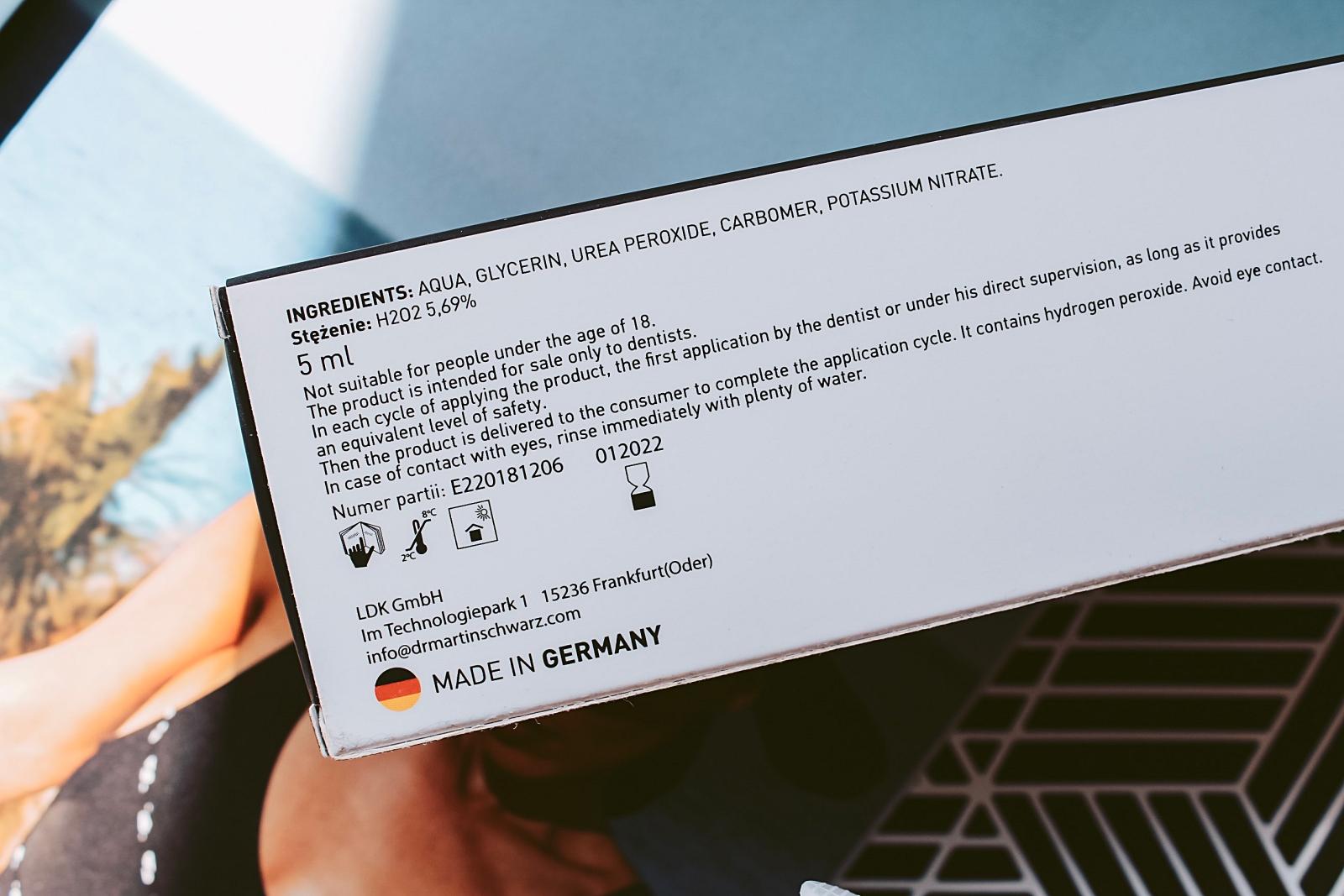 Żel Dr. Martin Schwarz Expert 38% skład formuła