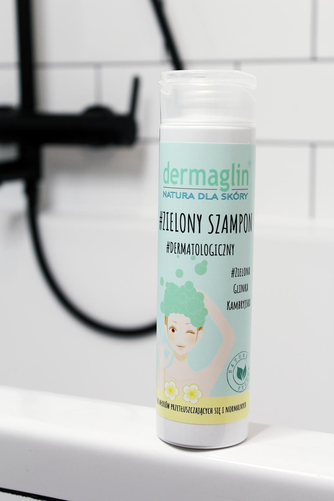 szampon zzieloną glinką demarglin