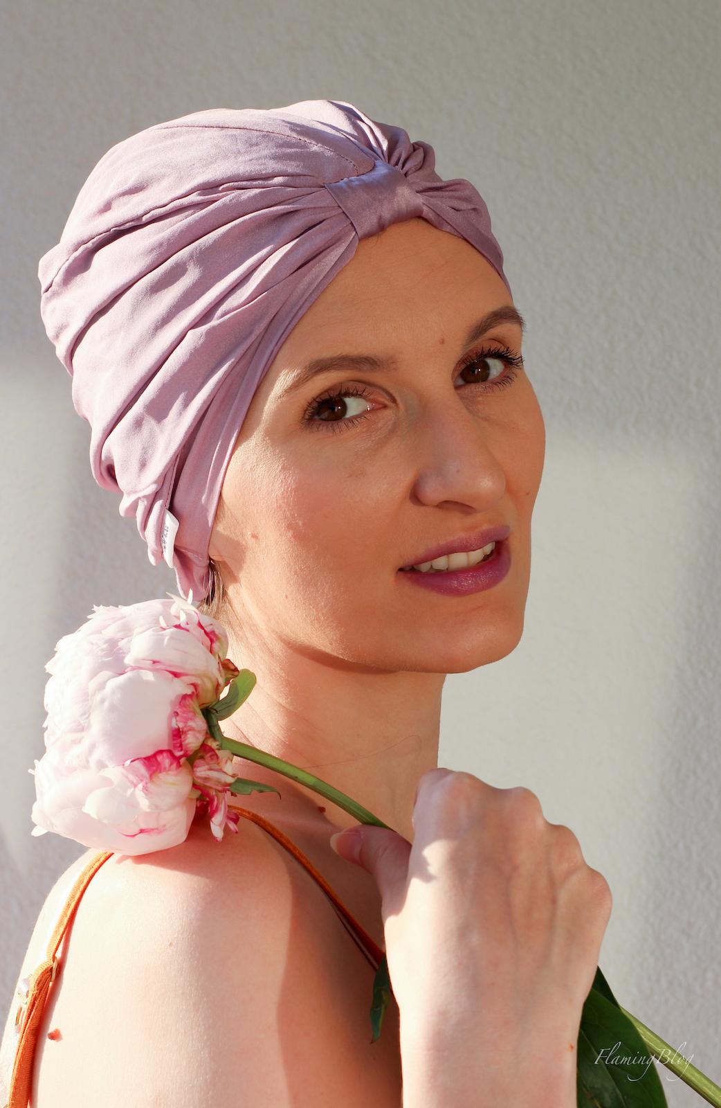 turban jedwabny dowłosów ALMANIA jak nosić
