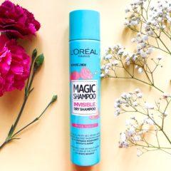 Suchy szampon L'Oréal Magic Shampoo Invisible Dry Shampoo Rose Tonic – pobije Batiste?