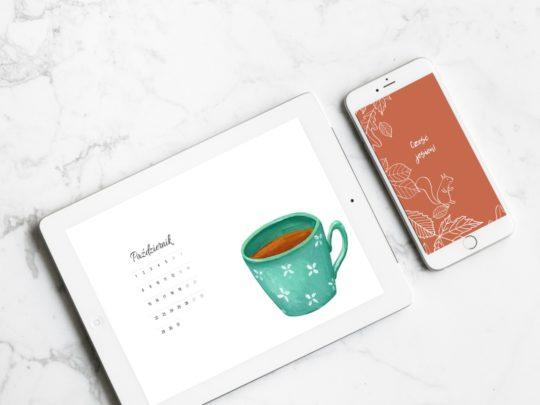 Do pobrania: Tapety na komputer i telefon z kalendarzem na październik 2018